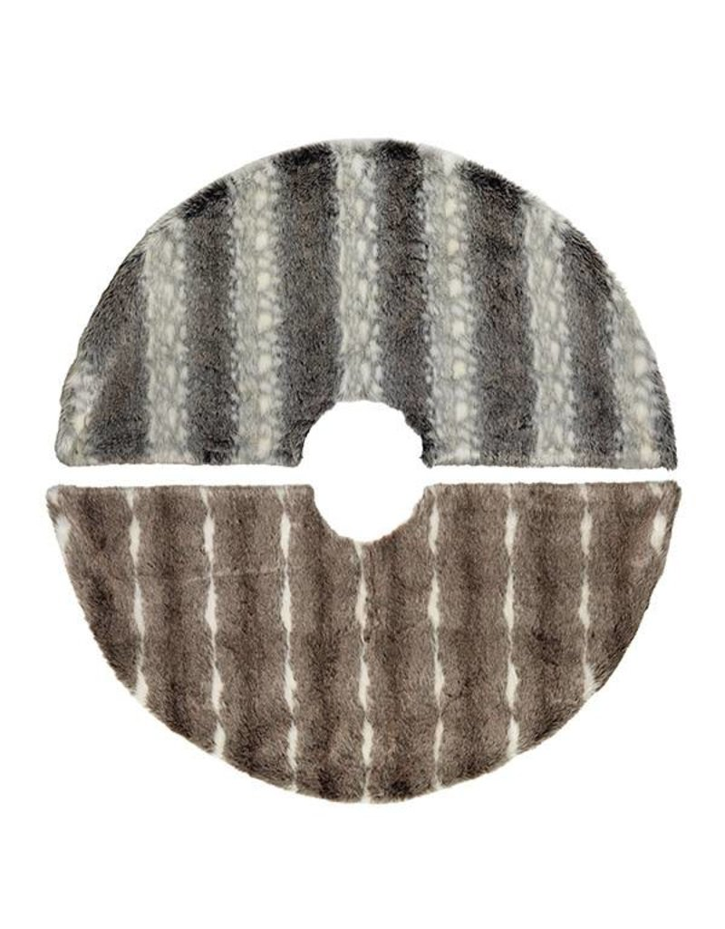 "48"" Faux Fur Tree Skirt--2 asst--choice of one"