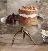 Bronzed Antler Cake Pedestal