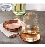 Copper Beaded Tin Coaster Set