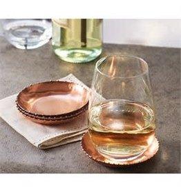 Copper Beaded Tin Coaster Set