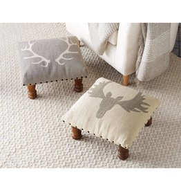 Antler Footstool--GRAY ONLY