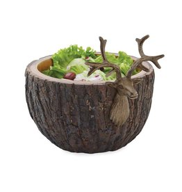 Deer Bark Serving Bowl