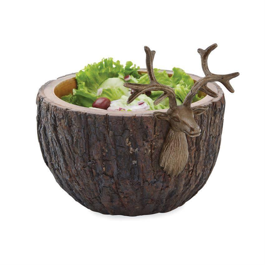 Deer Bark Serving Bowl
