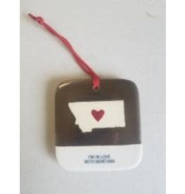 "Demdaco ""I'm In Love With Montana"" Heart Ornament/Magnet"