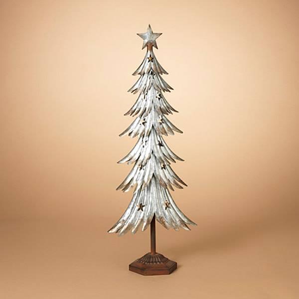 "31""H Galvanized Metal Tree"