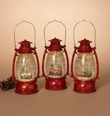 "9.5""H B/O Spinning Water Globe Lantern, 3 Asst --choice of one"