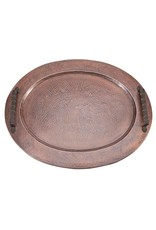 Copper Oval Gallery Tray