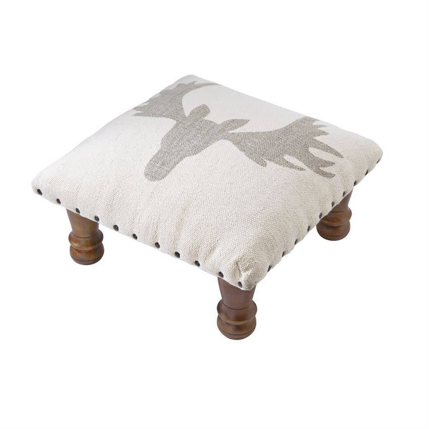 Antler Footstool--TAN ONLY