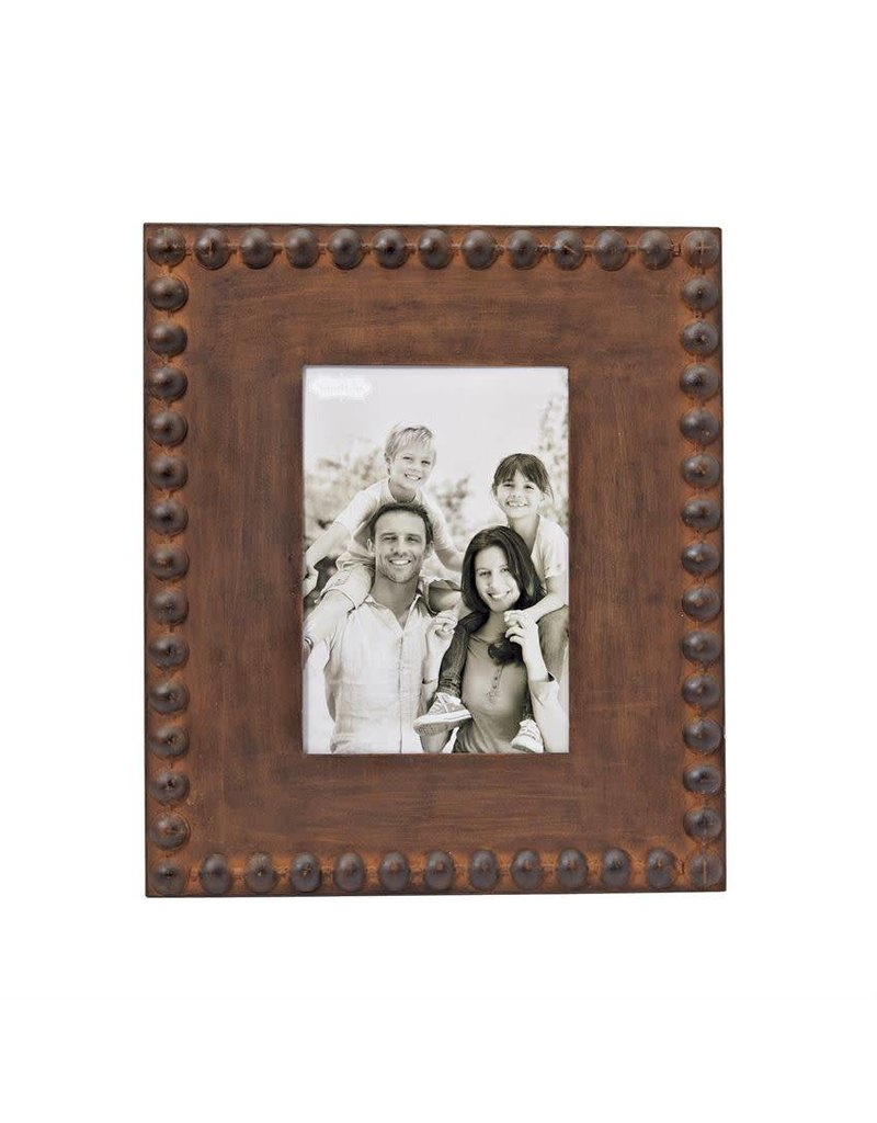 Large Nailhead Tin Picture Frame