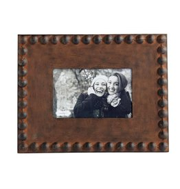 Rustic Nailhead Tin Picture Frame 4x6