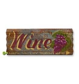 Corrugated Metal Mummert Wine Sign 17x44