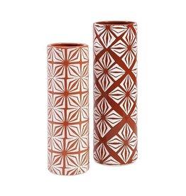 Orange Savion Ceramic Vase (Left)