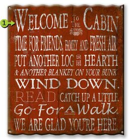 Welcome to the Cabin Corrugated 29x37.5 Aluminum