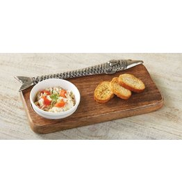 Wood Fish Bar Board Set