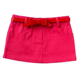 Baby Girl Skirt with Belt 0-6 Months Pink