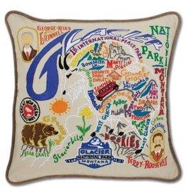 Glacier Park Pillow (Brown Piping)