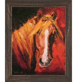 Katie Horses 16x12 Canvas Mirrored Edge