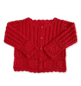 Baby Girl Red Knit Cardigan 6-12 Months
