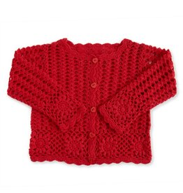 Baby Girl Red Knit Cardigan 12-18 Months
