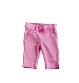 Baby Girl Cotton/Lycra Capri Pant 12-18 Months with Polka Dot Crosgrain Belting