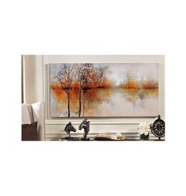 Birch Trees Oil Paint on Canvas Wall Print