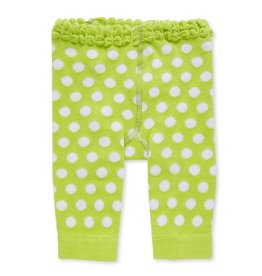 Baby Girl Legging 0-12 Month Light Green/White Polka Dot