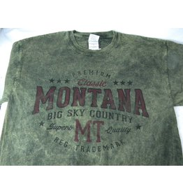 "Men's Acid Wash ""Montana Big Sky Country"" Olive- Medium"