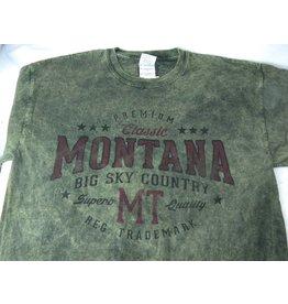 "Men's Acid Wash ""Montana Big Sky Country"" Olive- XLarge"