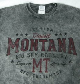 "Men's Acid Wash ""Montana Big Sky Country"" Charcoal- Large"