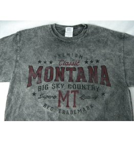 "Men's Acid Wash ""Montana Big Sky Country"" Charcoal- Medium"