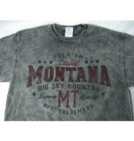 "Men's Acid Wash ""Montana Big Sky Country"" Charcoal- 2XLarge"
