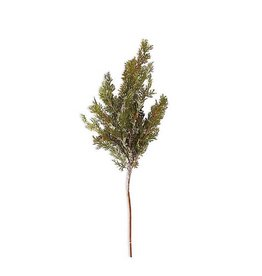30 Inch Soft Snowy Cypress with Small Pinecones Stem