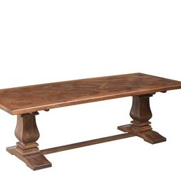 """Napa Trestle Dining Table in Aged Sable - 96"""" x 42"""""""