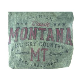 "Men's Starsky Oval ""Montana Big Sky Country"" Olive-Large"