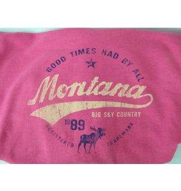 """Unisex Heathered Hoody """"Montana Big Sky Country"""" Heather- XLarge"""