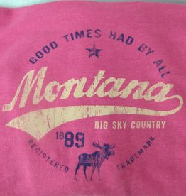 "Unisex Heathered Hoody ""Montana Big Sky Country"" Heather- Large"