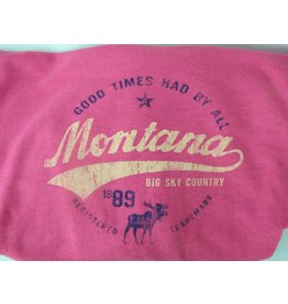 "Unisex Heathered Hoody ""Montana Big Sky Country"" Heather- Large"