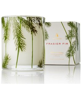 Frasier Fir Poured Candle w/ Needle Deco