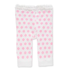 Baby Girl Legging 0-12 Month White/Pink Polka Dot