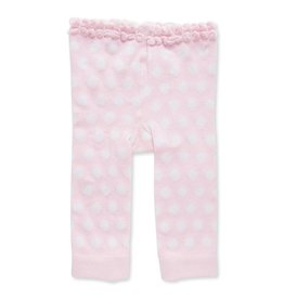 Baby Girl Legging 12-18 Months Light Pink/White Polka Dot