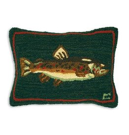 "New Brown Trout 14""x20"" Hooked Pillow"