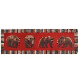 Cinnamon Bears 2.5'x8' Hooked Runner