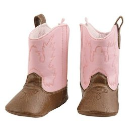 Baby Girl Cowboy Boots 0-6 Months Pink and Brown