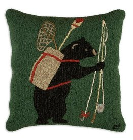 "Bear Essentials 26"" Hooked Pillow"