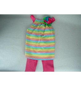 Toddler Girl Colorful Tunic Legging Set- 12 Mo.