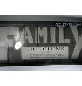 Large Weathered Personalized FAMILY Sign