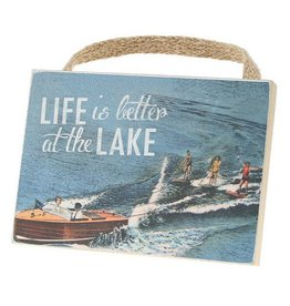4x5.5 Lake Time Plaque - Life is Better Lake