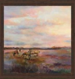 Mustangs Under the Big Sky Canvas 35x35