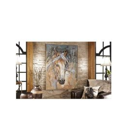 OIL PAINT CANVAS WALL DECOR, HORSE