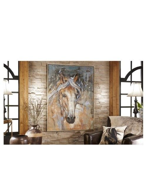 Canvas And Wood Horse Wall Print Beckman S